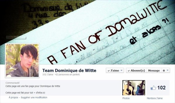 "Viens rejoindre la ""TEAM Dominique de Witte"" !"