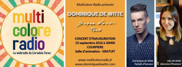 Dominique de Witte en CONCERT à Courpière - 23/09/16 - SUPERNOVA TOUR