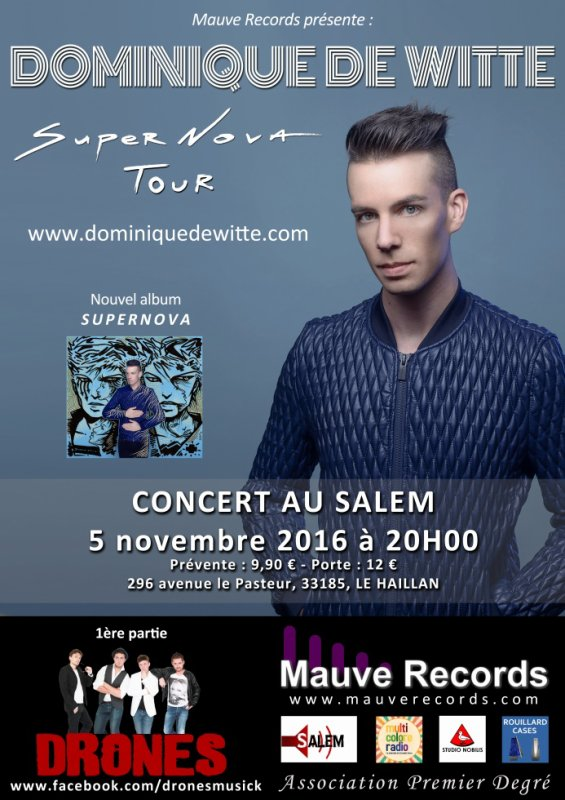 Dominique de Witte en CONCERT au SALEM - LE HAILLAN - 05/11/16 - SUPERNOVA TOUR