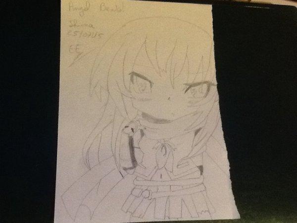 Mon dessin sur Angel Beats!