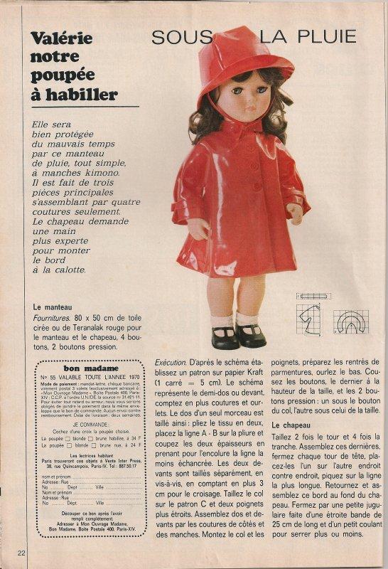 Valérie ,sa garde robe de 1970