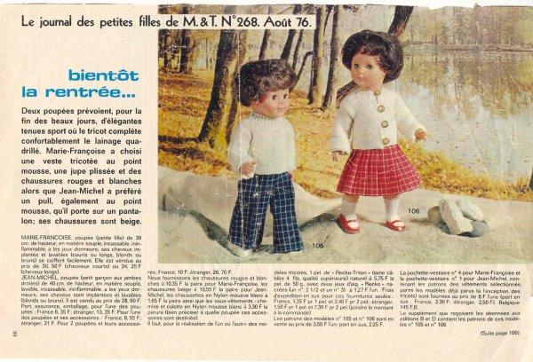 Tenues d'aout 1976 et 1978