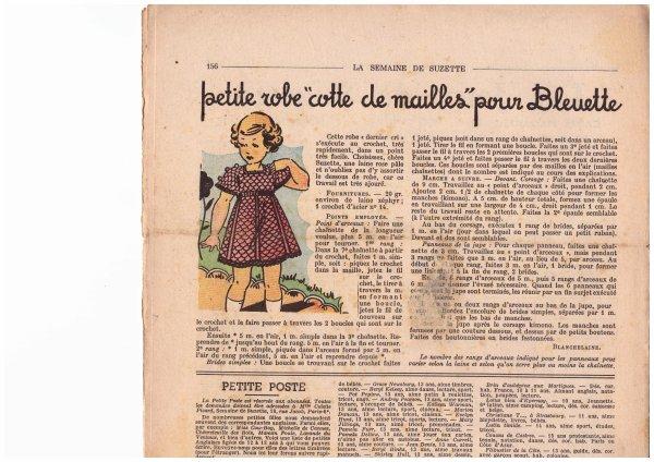 Tricots/Crochet  tenues pour la poupée Bleuette