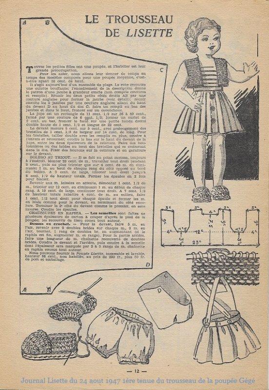 Lisette 24 aout 1947