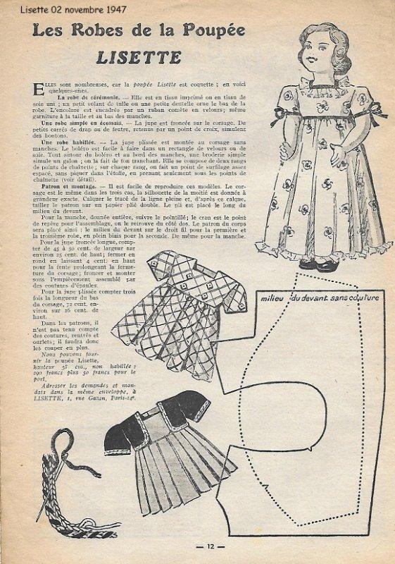 Lisette tenue du 02 novembre 1947