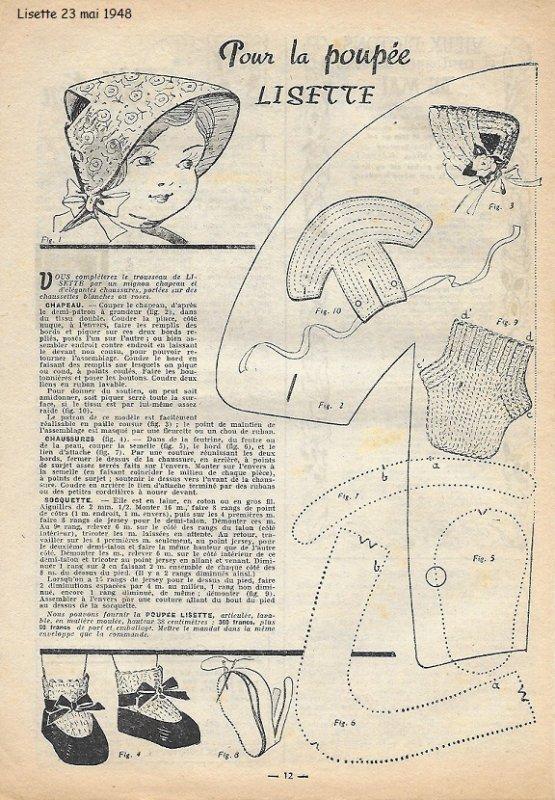 Lisette tenue du 23 mai 1948