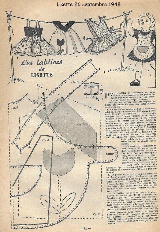 Lisette tenue du 26 septembre 1948