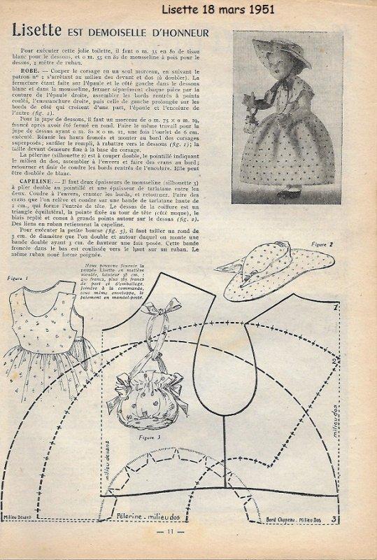 Lisette tenue du 18 mars 1951