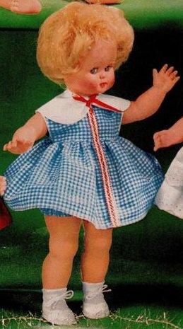 Odile , poupée Polyflex 1963/1964