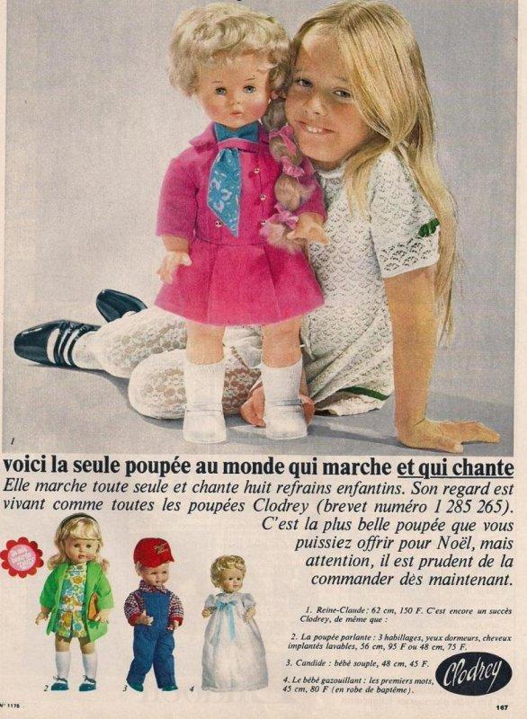 Reine Claude , poupée Clodrey 1967/1968