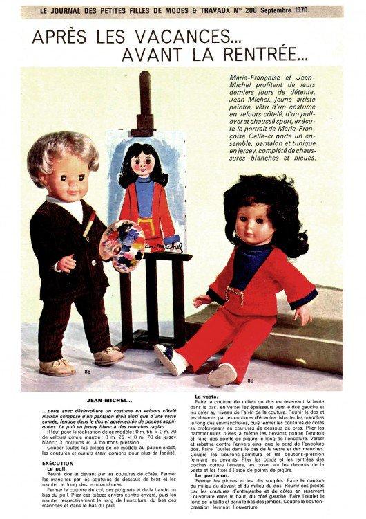 Tenue de septembre 1970, Modes & travaux
