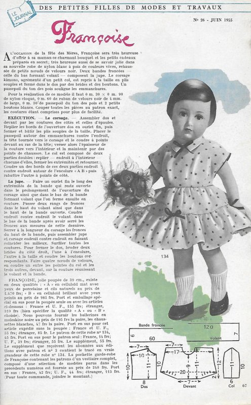 Tenue juin 1955 Françoise