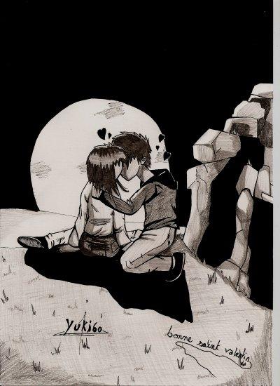 j'ai dessiné un couple pour le theme de la saint valentin , vous en pensez quoi ? =D