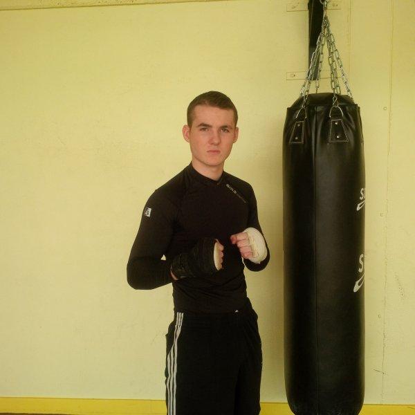 Adrien Vergne, vice-champion de France élite B de boxe française