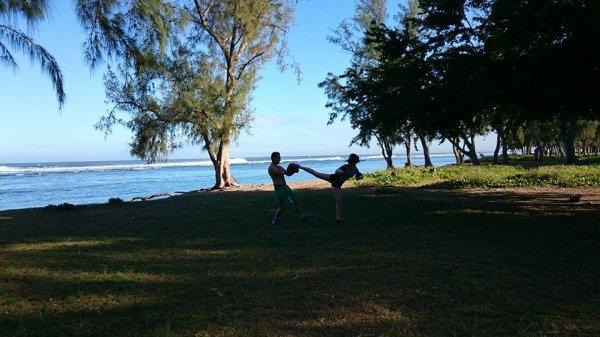 Le boxing club Tournon Tain à la Réunion.