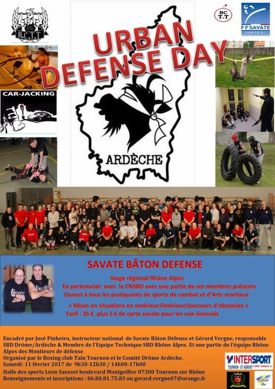 Affiche stage URBAN DEFENSE DAY 2017