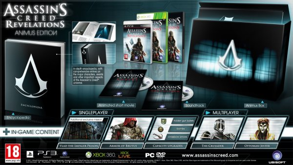 Assassin's Creed: Revelastions [ANIMUS EDITION] preOrder now.