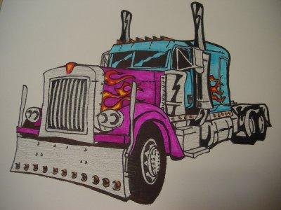 Camion am ricain blog de dessins d oliver - Dessin de camion americain ...