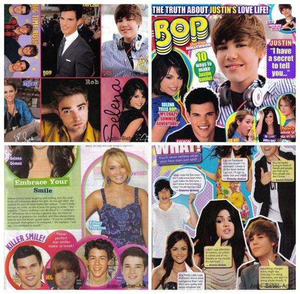 Justin apparaît dans le BOP et Tiger Beat Magazine du mois d'octobre.