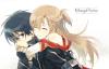 Asuna & Kirito ;)De sword art online ;)