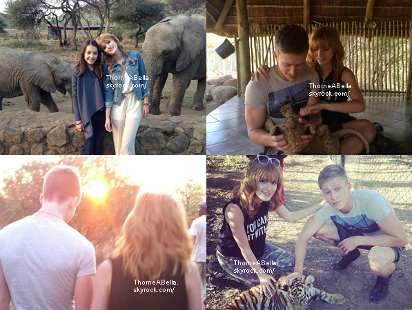 De toutes nouvelles photos exclusives de Bella et Tristan en Afrique du Sud sont sortis !