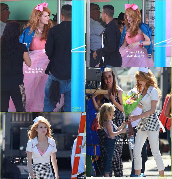 Bella sur le tournage de AmityVille le 8 avril 2014 .