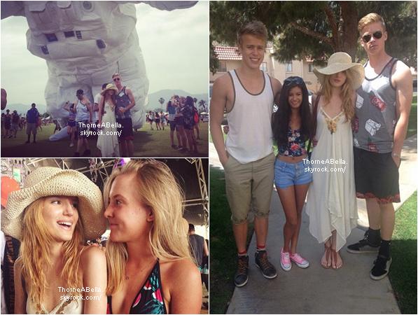 Bella au festival du Coachella le 18 avril 2014 . Personnellement j'adore ce festival et j'accorde et superbe TOP à Bella , votre avis ?