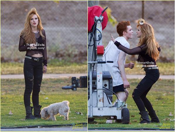 Bella toujours sur le tournage de Amity Ville le 29 avril 2014 .