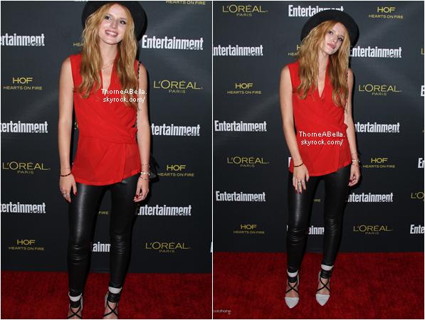 Le 22 août , Bella était au Kari Feinstein's Style Lounge .