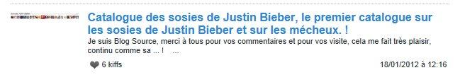 Catalogue des sosies de Justin Bieber, le premier catalogue sur les sosies de Justin Bieber et sur les mécheux. !