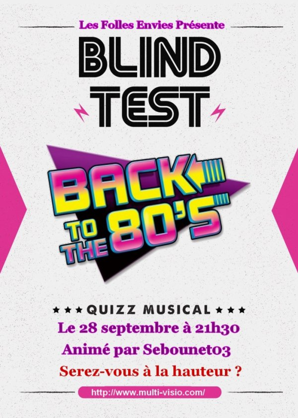 Soirée blind test back to the 80's