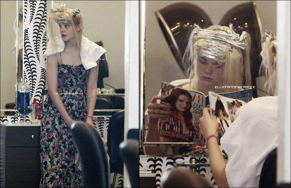 7 septembre : Elle était chez le coiffeur à Beverly Hills !