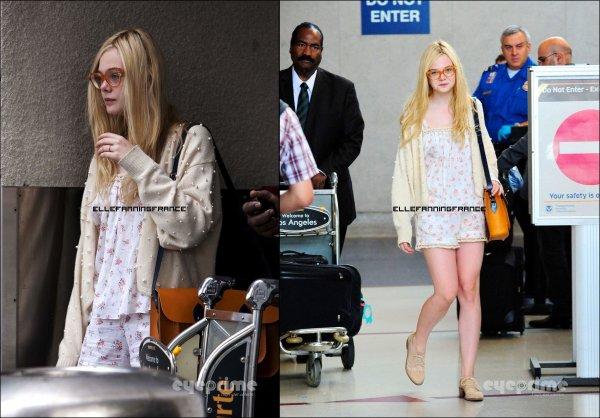 14 septembre : Elle rentrant de New York et étant à LAX, l'aéroport de Los Angeles !