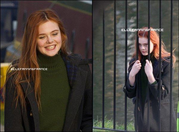 """22 Mars : Elle sur le tournage de """"Bomb"""" à Londres (pour le besoin de son rôle, Elle a les cheveux rouge!) !"""