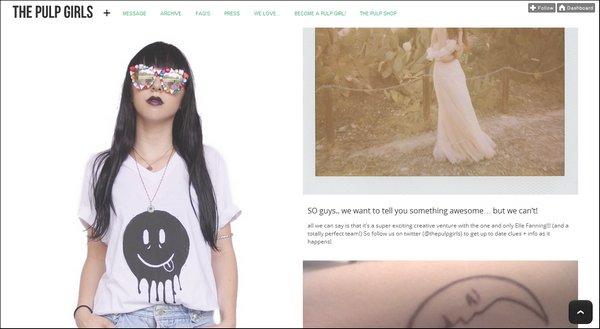 The Pulp Girls & Elle Fanning, une collaboration fashion !
