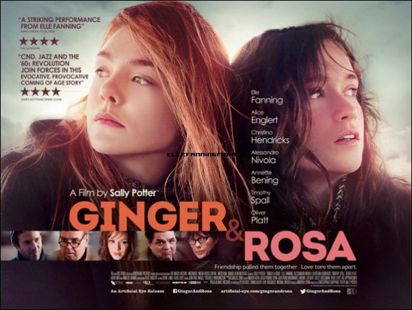 "Voici l'affiche du film ""Ginger & Rosa"" !"