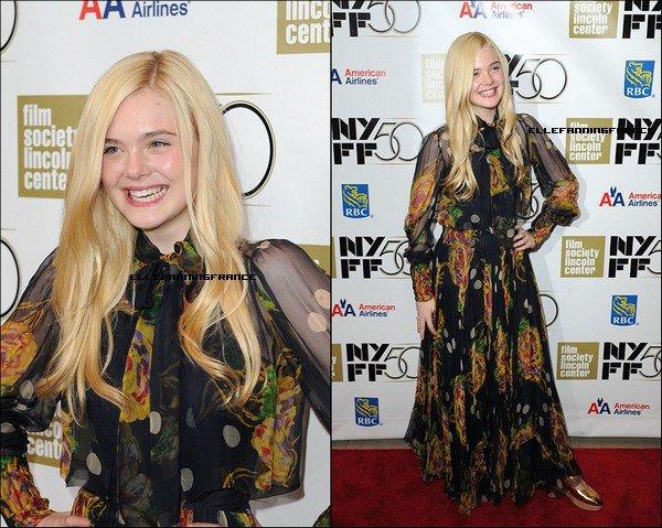 """08 Octobre : Elle était toute souriante au New York Film Festival pour la première de """"Ginger et Rosa"""" !"""