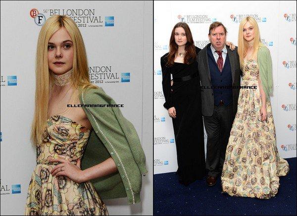 """13 Octobre : Elle était à la première de """"Ginger et Rosa"""" au BFI Film Festival à Londres !"""