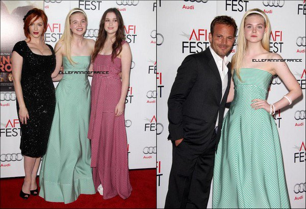 """07 Novembre : Elle était à l'AFI FEST (Institut du Film Américain à Los Angeles) pour la projection de """"Ginger et Rosa"""" avec ses co-stars au Grauman's Chinese Theatre à Hollywood !"""