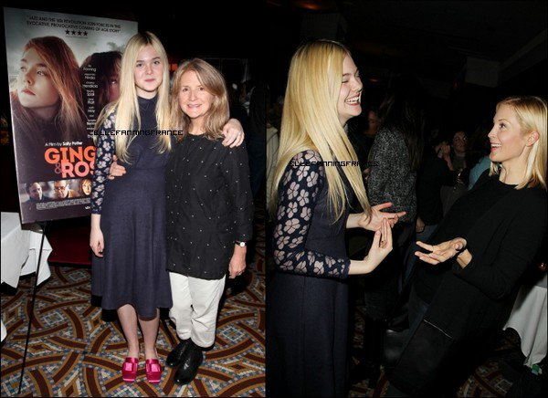 "11 Novembre : Elle était à l'After Party après la projection de ""Ginger et Rosa"" à New York !"