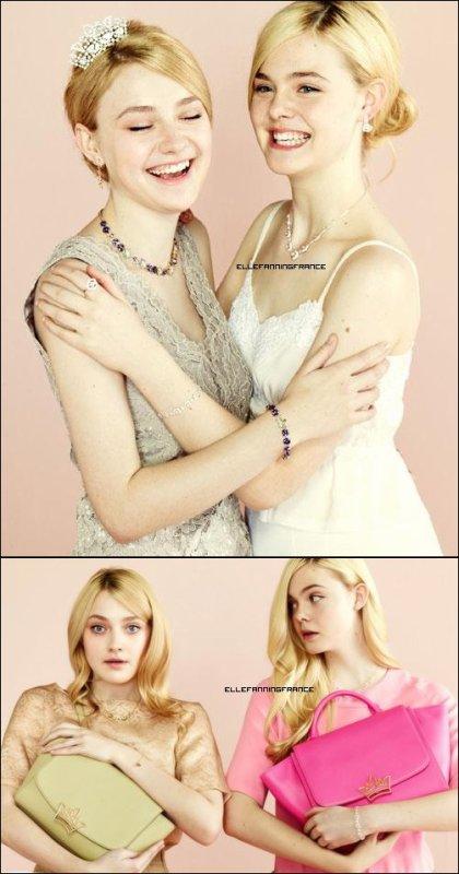 Voici les premières photos du photoshoot d'Elle et de Dakota pour la marque J. Estina !
