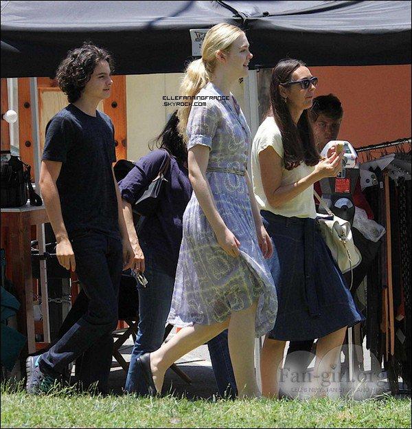 """06 Juin : Elle sur le set de """"Low Down"""" + un premier aperçu de l'affiche du film !"""