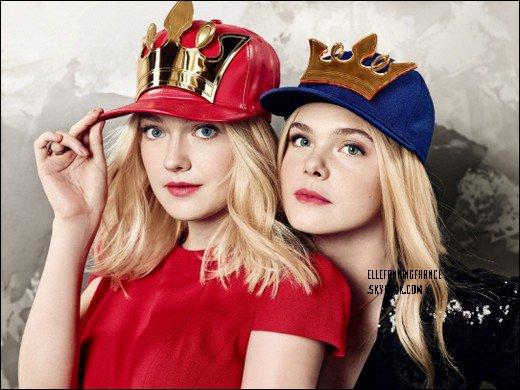 Voici de nouvelles photos d'Elle et de Dakota, sa s½ur, pour la marque J. Estina !
