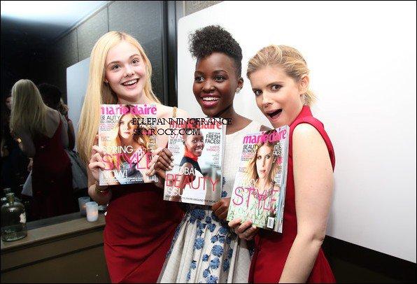 """08 Avril : Elle était à la fête donnée par le magazine """"Marie Claire"""" pour la sortie de ce dernier avec Elle à la une notamment !"""