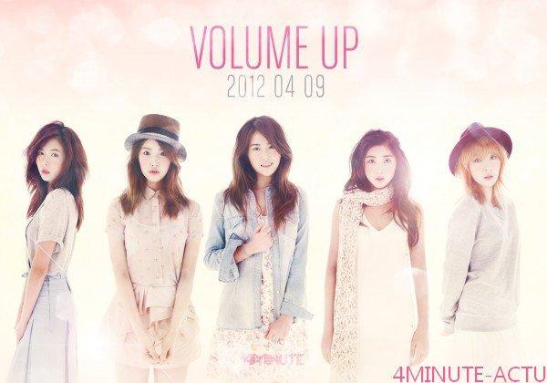 """Les 4minute dévoilent teaser photo et tracklist du mini-album """"Volume Up"""""""