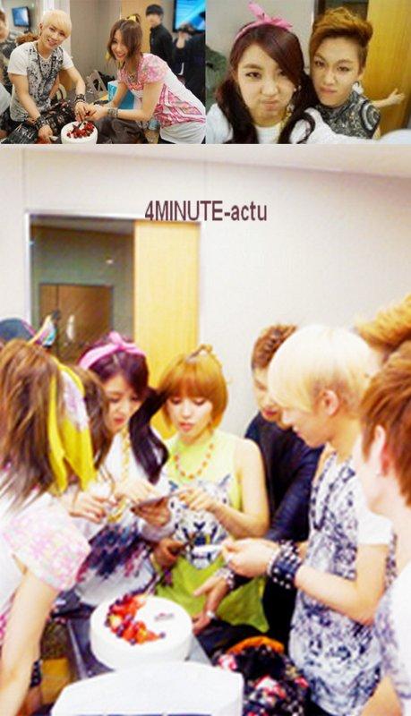 M!Countdown BTOB avec 4MINUTE dans les coulisses