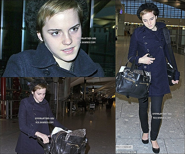 .    31 / 12 / 2010 :   Emma a été aperçue à l'aéroport Heathrow à Londres pour prendre un vol vers Los Angeles..