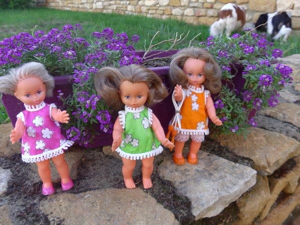 En écho à Annick  - Minichou Gégé robes fleurs