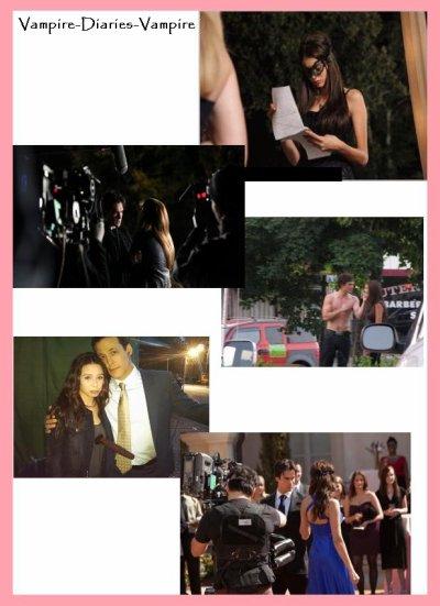 Sur le tournage de Vampire Diaries...