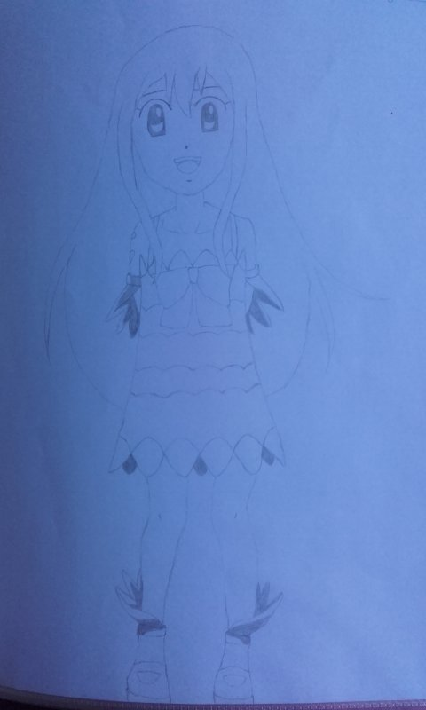 Wendy de Fairy Tail en dessin !